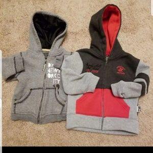 2 baby hoodies